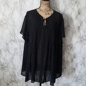 Torrid| Sheer Chiffon Pleated Front Blouse